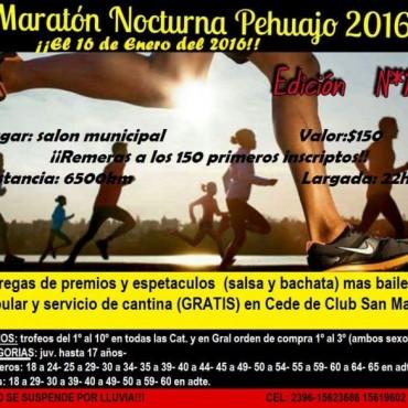 Este fin de semana se corre la edición Nº13 de la Tradicional Maratón Nocturna en Pehuajó