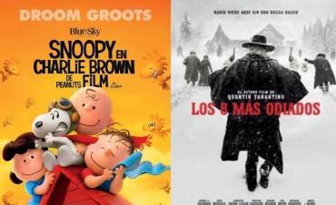 Llega al Cine Avenida 'Los Ocho Más Odiados' y 'Snoopy & Charlie Brown'