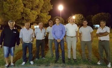 Plaza Roca: se inauguró la nueva iluminación de cara a 'La Placeada'