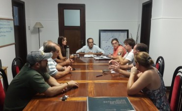 Marcos Pisano, Intendente Interino, se reunió con integrantes de la Unión Industrial