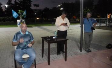 El economista Santiago Fraschina visitó la ciudad de Bolívar