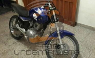 Urdampilleta: La Policía recupero una moto que había sido robada