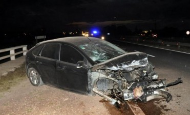 Un hombre protagonizó un fuerte choque en la Ruta Nacional 226 en cercanías de Olavarría