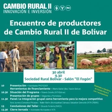 CAMBIO RURAL II-INNOVACIÓN E INVERSIÓN: Se realizará un encuentro de productores de cambio Rural II