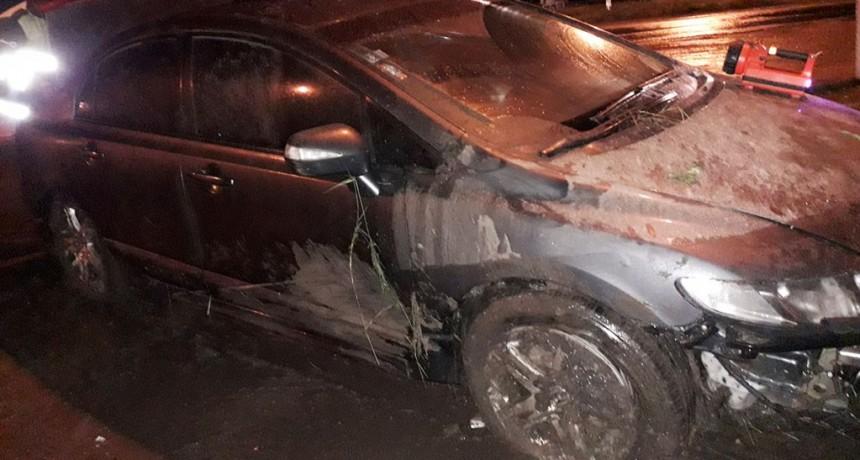 Un conductor de Cañuelas sufrió un despiste en Rutas 65 y 226