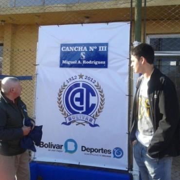 Se recordó a Miguel Rodríguez, denominando la Cancha Nº3 de Club Independiente con su nombre