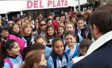México las espera: Las alumnas de Gimnasia Aeróbica del Club Ciudad, partieron hoy
