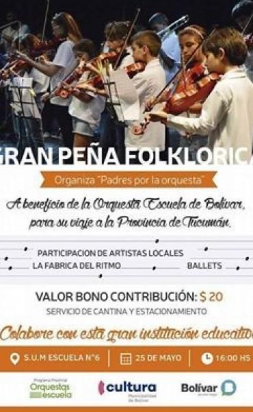Habrá una Peña folklórica el 25 de Mayo con artistas locales