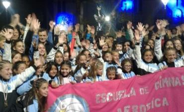 Gimnasia Aeróbica: Las niñas campeonas fueron recibidas por una multitud este 25 de mayo
