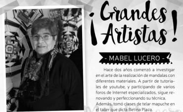 DESDE ESTE JUEVES: Mabel Lucero expone en el ciclo de muestras grandes artistas