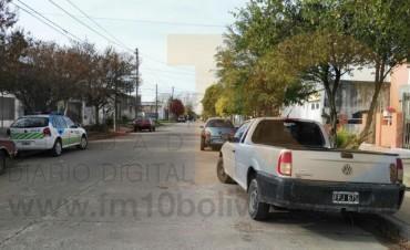 Accidente en calle Falucho; sin heridos