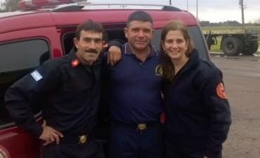Varios bomberos de nuestra ciudad asistieron a un taller en Lomas de Zamora