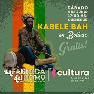 Este sábado: 'Kabele Bah' brindará un taller gratuito de percusión