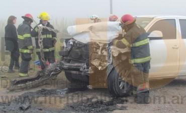 Impactante accidente en ruta provincial 65; una persona hospitalizada