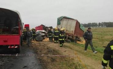 Fatal accidente en ruta 5, kilómetro 329, entre Guanaco y Carlos Casares