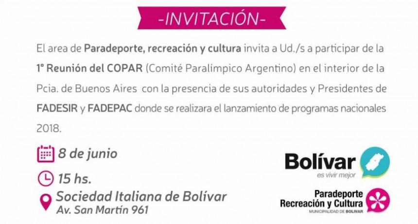 Se reunirá el Comité Paralímpico Nacional en Bolívar