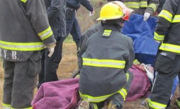 Dos automovilistas heridos