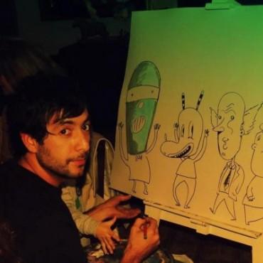 Pato Arbe ganó un concurso de pintura en Daireaux