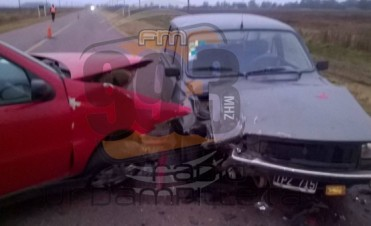 Accidente en el acceso a Urdampilleta