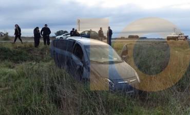 Un automóvil se despistó en la ruta 65, solo heridos leves