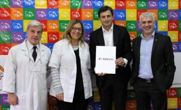 El Hospital 'Miguel Capredoni' firmó un convenio de colaboración con el Hospital Garrahan