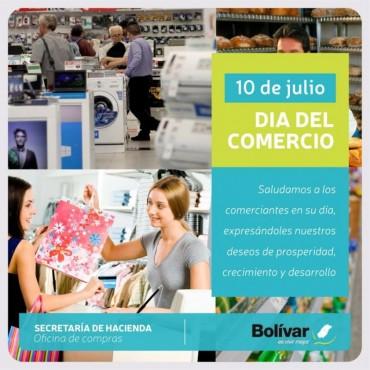 DÍA DEL COMERCIO: La Municipalidad de Bolívar saluda a los comerciantes en su día