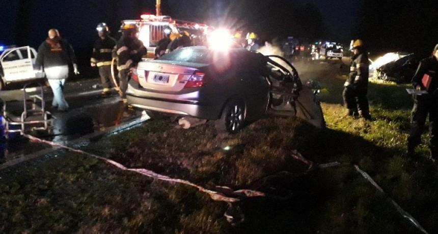 Roque Pérez: Choque fatal en ruta 205; dos fallecidos