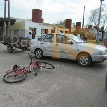 Último Momento: Impacto entre una ciclista y un automovilista
