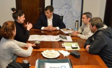 El intendente Bucca se reunión con la arquitecta ganadora del concurso de ideas