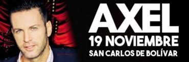 Axel llegaría a Bolívar en el mes de noviembre