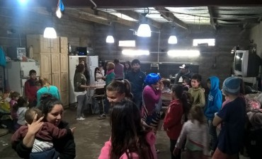 La Cámpora visitó el comedor Pequeños Gigantes y realizó actividades recreativas para los niños