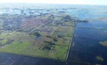 Impactante imágen área muestra la situación hídrica en Gral. Alvear