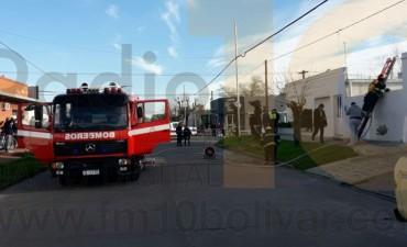 Incendio con importantes daños en una vivienda Larrea y Sáenz Peña
