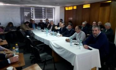 Pisano y Mansilla asistieron a la 'Comisión de Aguas'
