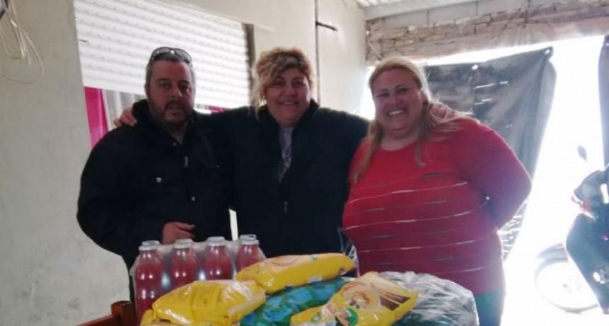 El grupo Enduro Bolívar entrego donaciones al Comedor Encuentro de Amor