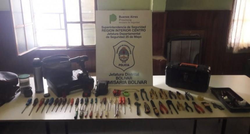 Recuperaron las herramientas robadas a Cruz Domingo Conicente