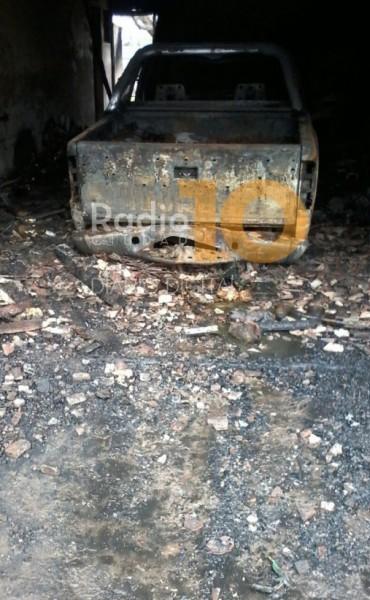 Incendio en Pirovano: Daños materiales importantes