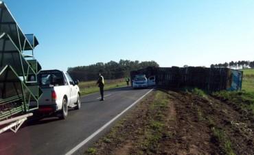 Espectacular accidente cerca de Bonifacio, afortunadamente sin heridos