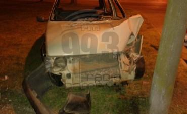 Accidente con importantes daños materiales en Urdampilleta