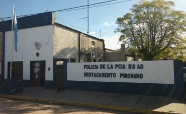 Allanamiento positivo en la localidad de Henderson tras una denuncia en el Destacamento de Pirovano