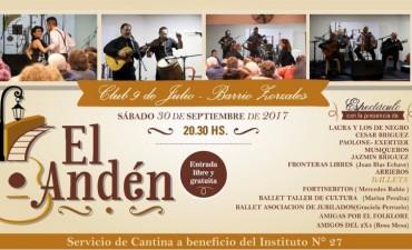 La peña 'El Andén' llega al club 9 de Julio