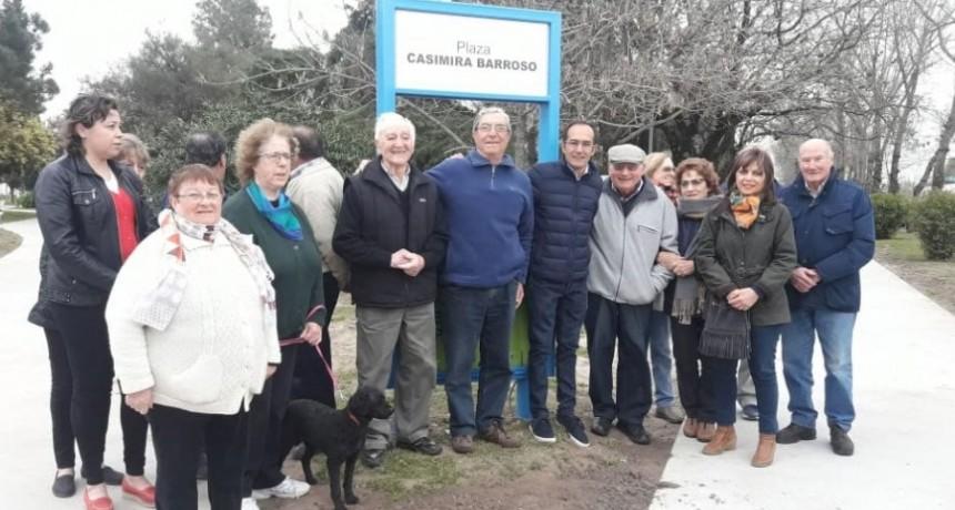 Se inauguro la puesta en valor de las plazas Casimira Barroso y Rafael Hernández