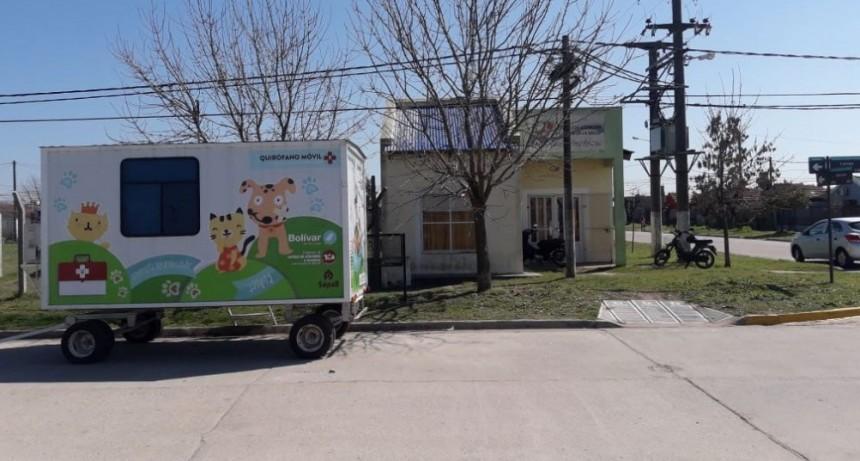 El quirófano móvil para castraciones gratuitas se trasladó a Barrio Solidaridad