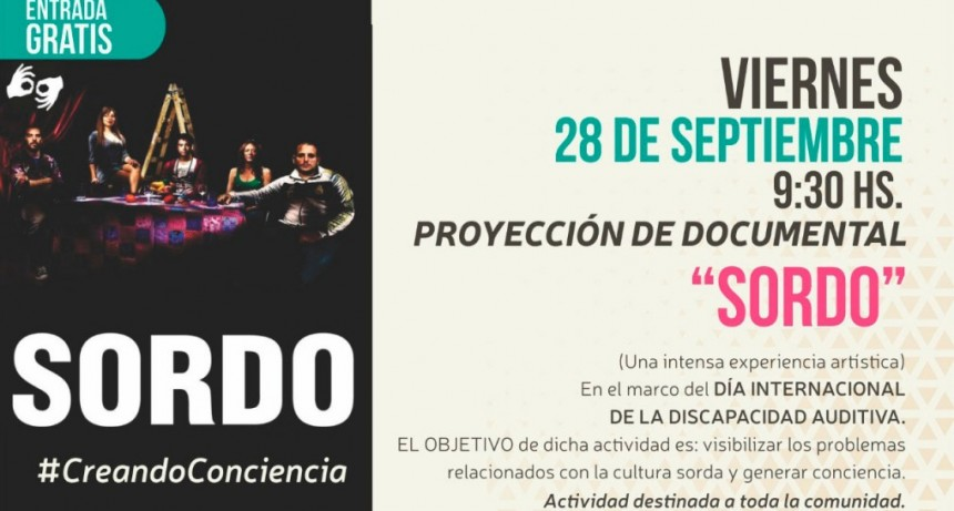 """Se proyecta el documental """"Sordo"""" en el Cine Avenida"""