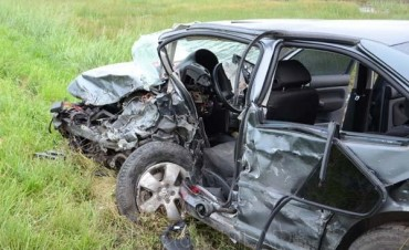 Murió una de las mujeres que se accidentó en la Ruta 226