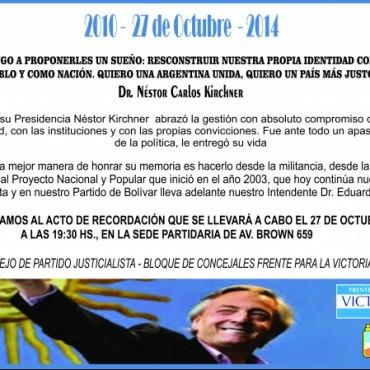 Acto recordando al expresidente Néstor Kirchner