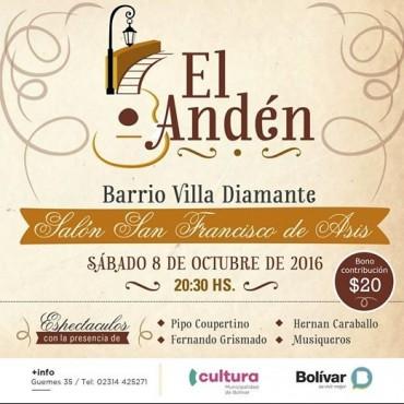Vuelve la peña El Anden con una noche folklórica en Villa Diamante