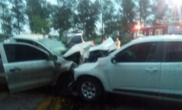 Accidente en Ruta 205: Murió el conductor de una de las camionetas