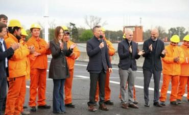 Macri y Vidal inauguran la segunda mano del 'Puente de la Noria'