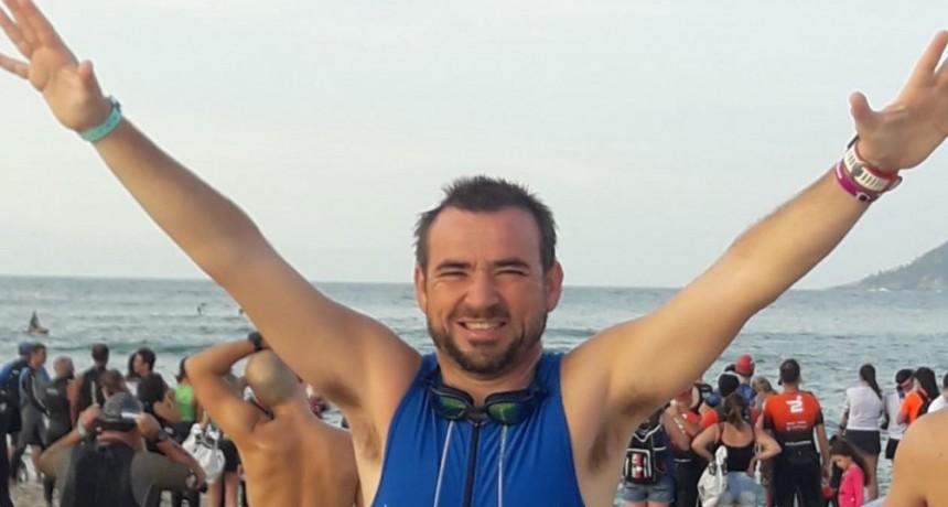 Juan Pablo León fue parte del Medio Iron Man de Rio de Janeiro junto a Rubén Martín